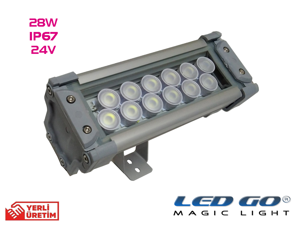 Led Go®PPN-28-24V, Led Projektör,28W, 24V AC-DC,IP67