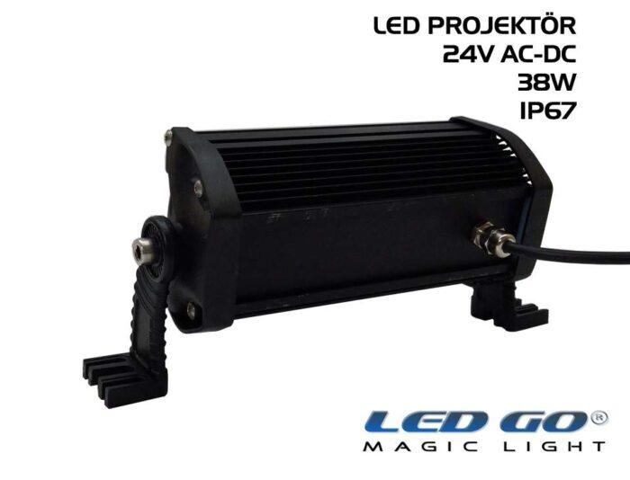 Led Go®EP-38, Elit Serisi SMDLED Projektör, 38W, 24V AC-DC, IP67