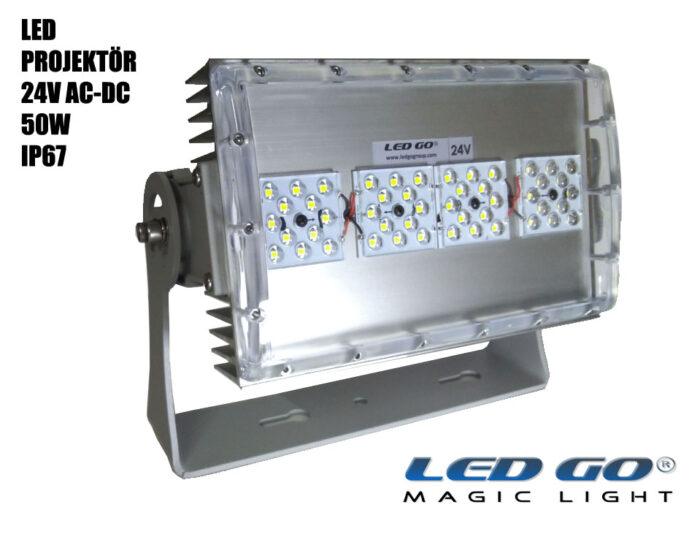 Led Go®SMP-50-24V, SMDLED Projektör, 50W, 24V AC-DC, IP67